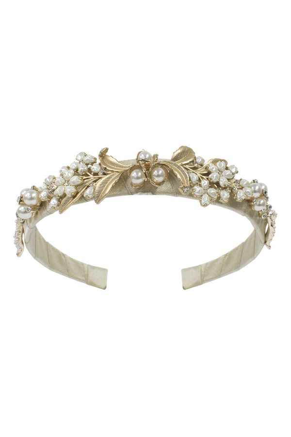 pale gold pearl hair band