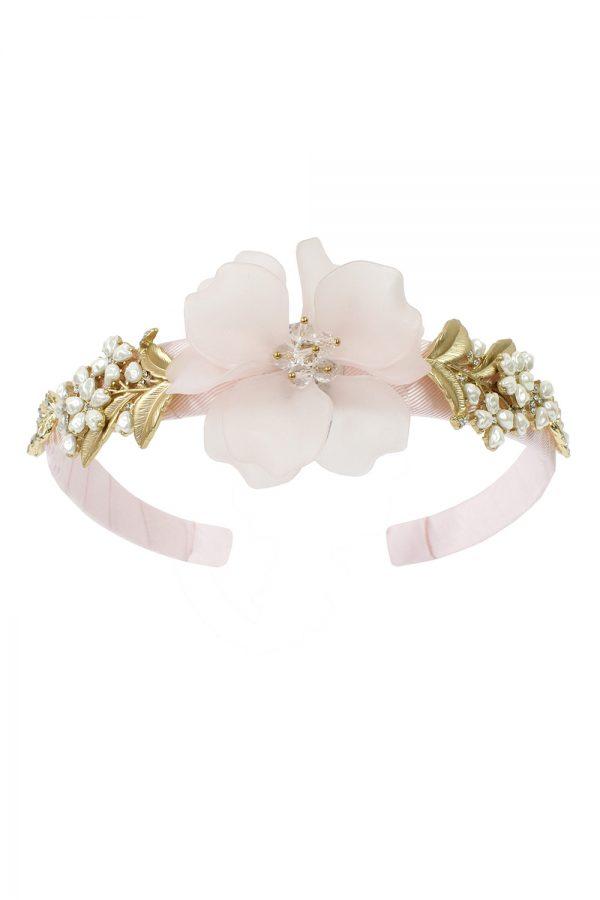 petal pink corsage hair band