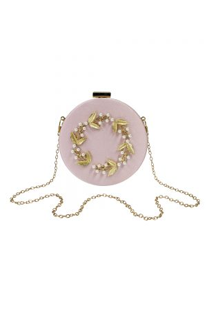 pink pearl baroque bag