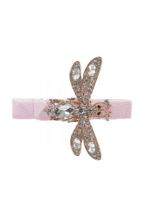 pink sparkle dragonfly hair clip