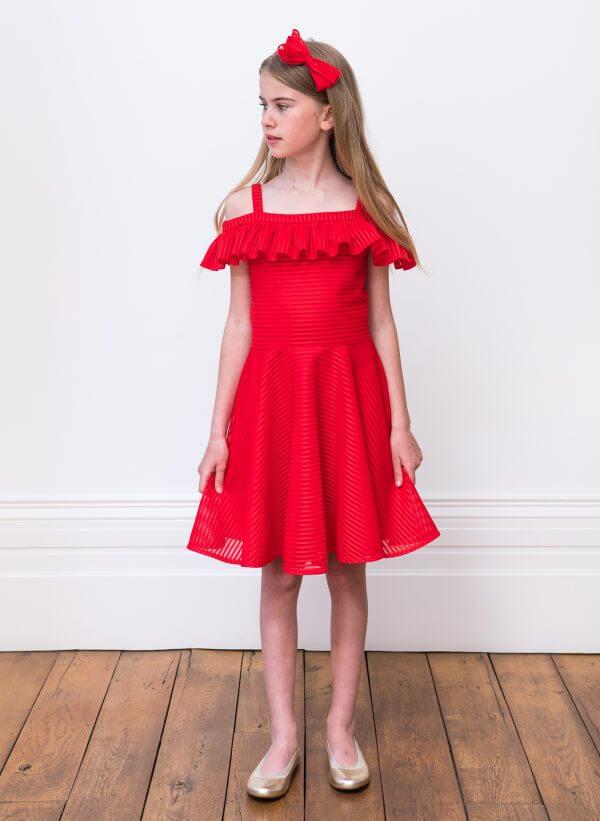 Bold colour girls dress