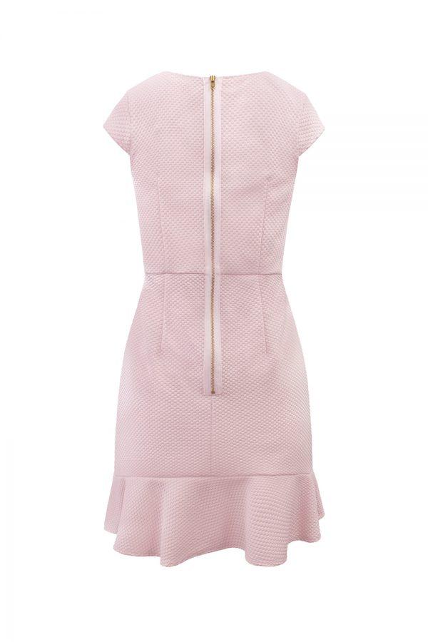 pink formal waterfall dress