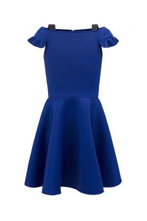 royal blue techno prom dress