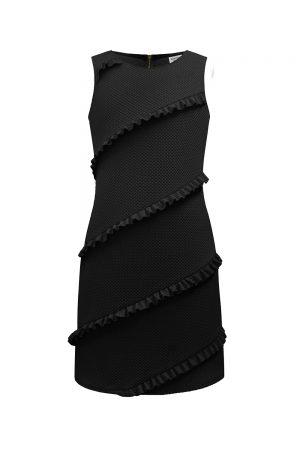 little black ruffle shift dress