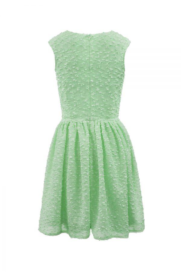 turquoise boucle summer dress