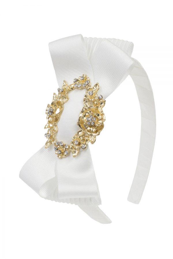 ivory bridesmaid bow hair band
