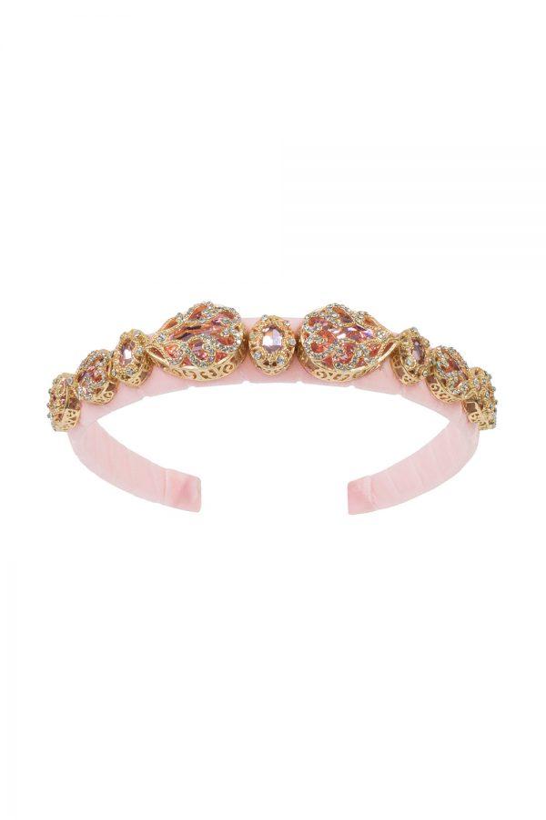 petal pink jewelled Alice band
