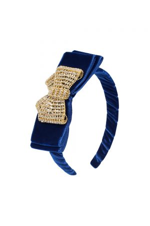 navy velvet embellished Alice band