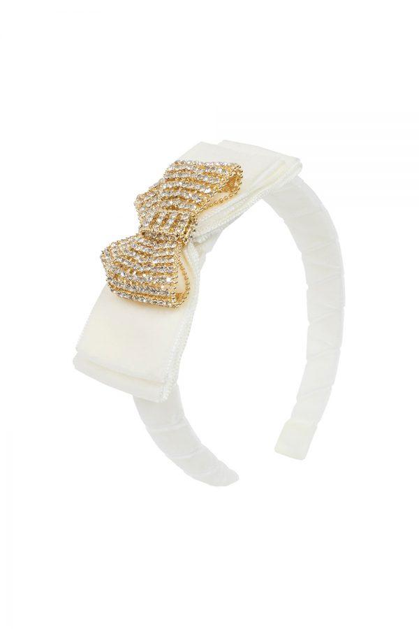 ivory gemstone hair band