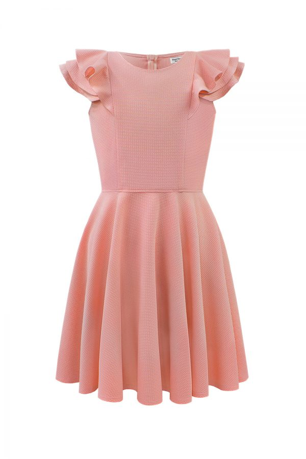 luxury pink easy stretch dress