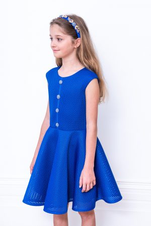 royal blue techno dress