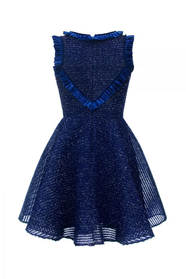 navy sparkle techno dress