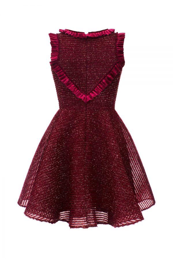 burgundy sparkle Evening dress