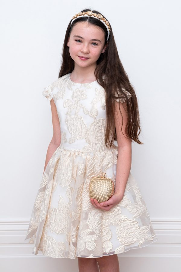 ivory and gold fairytale gown