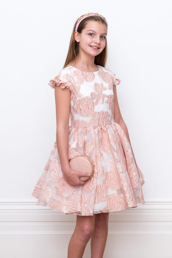 ivory and Pink Princess Gown