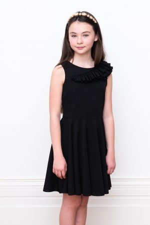 black ruffled birthday dress