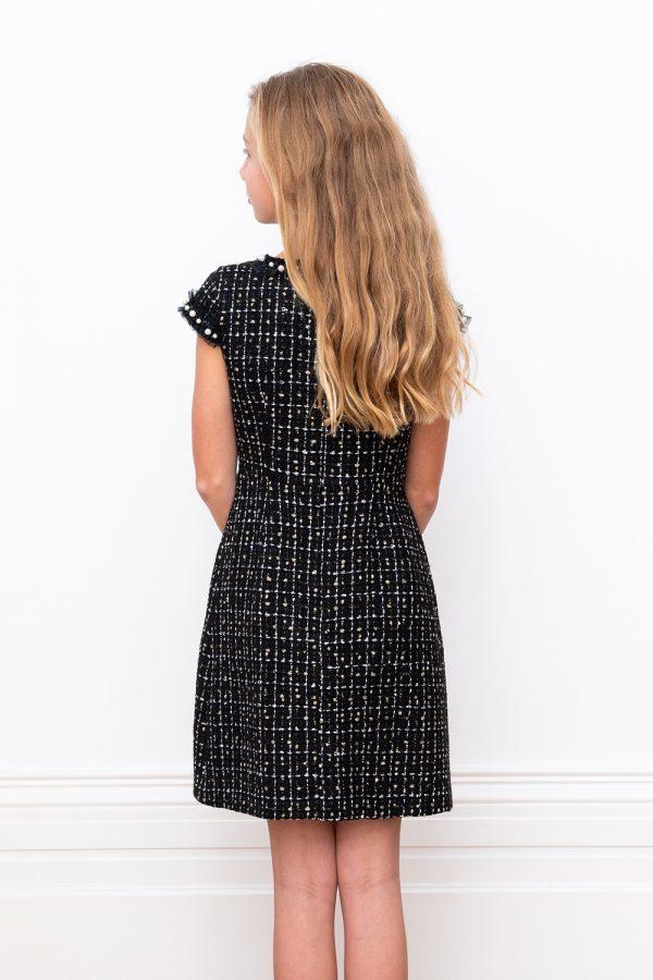black bridesmaid shift dress