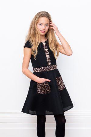 black techno prom dress