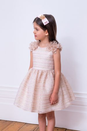 pastel pink organza party dress