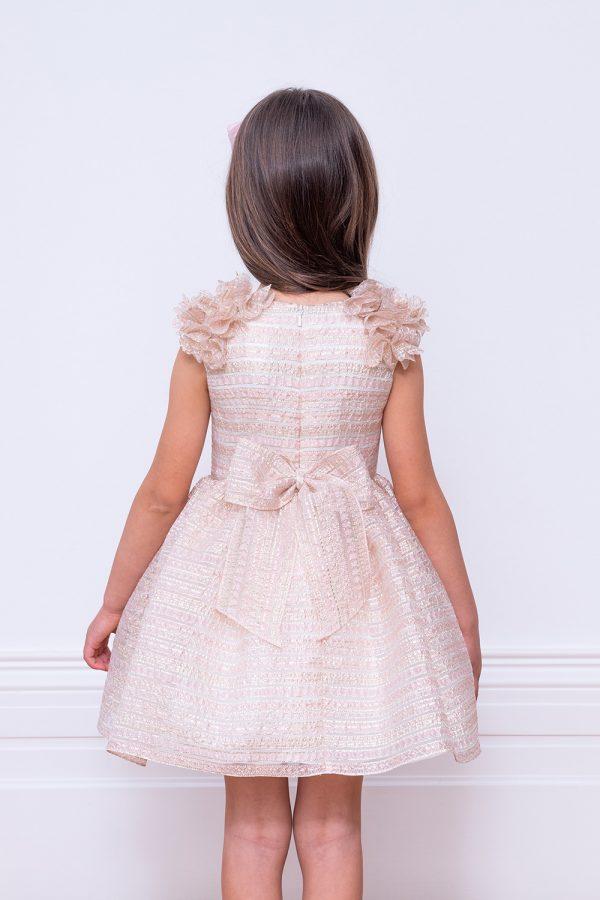 pastel pink organza party dress