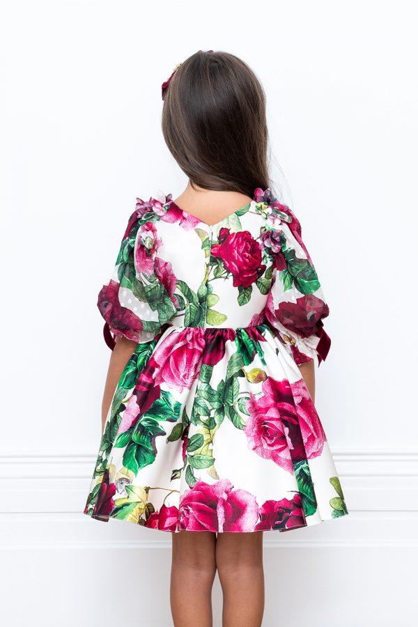 flower sateen party dress