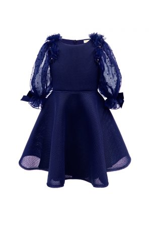 light navy techno tea dress