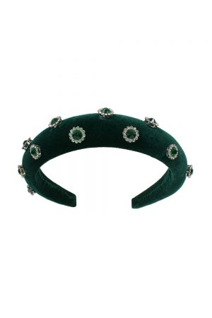 green velvet gemstone Alice band