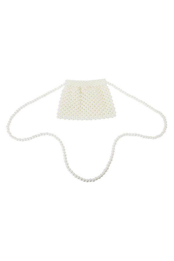 ivory pearl shoulder bag