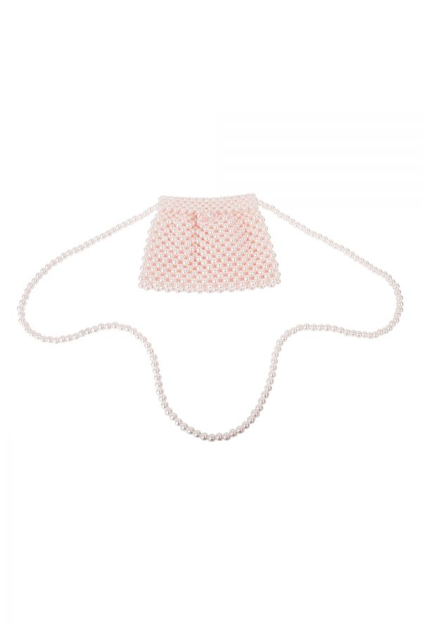 pink on trend pearl bag
