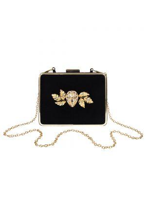 black diamond clutch bag