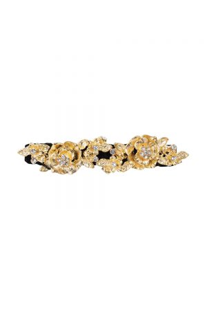 black velvet hair crocodile clip