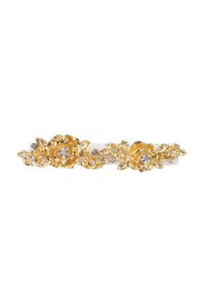 ivory and gold diamante hair clip