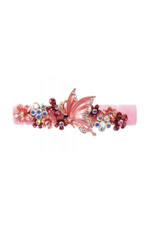 pink enamel butterfly clip