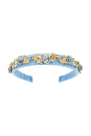 pale blue velvet hair band