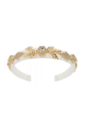 ivory velvet diamante hair band