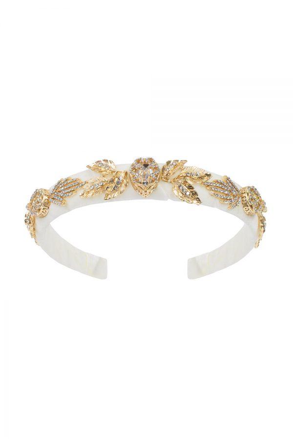 ivory velvet diamante hair band