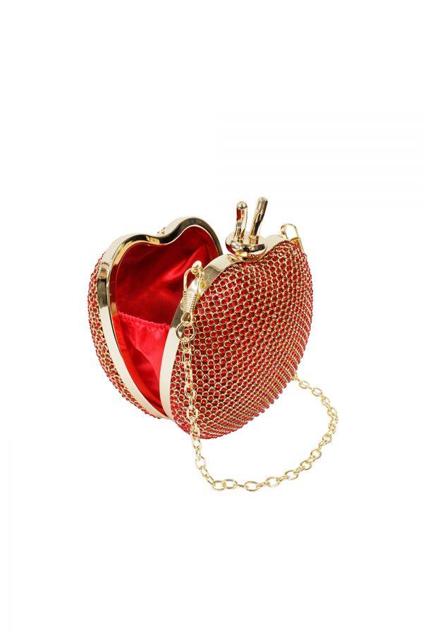 red apple fairytale clutch bag