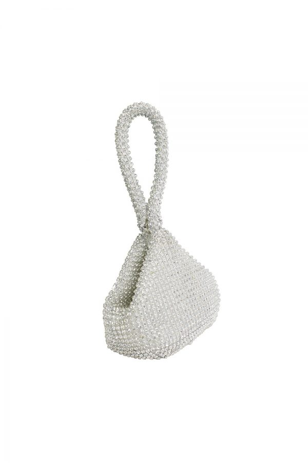 silver jewelled tote bag
