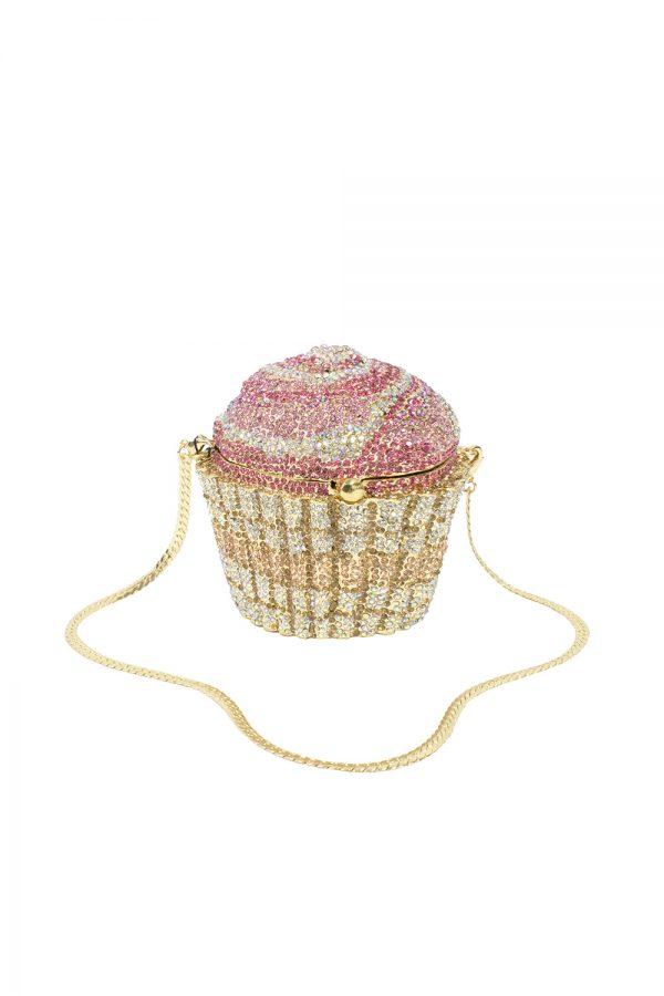 pink cupcake clutch bag