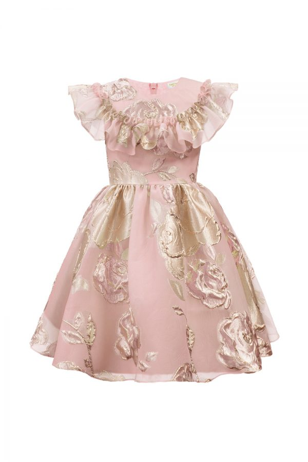 pink princess floral gown