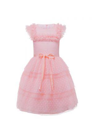 candyfloss pink polka dress