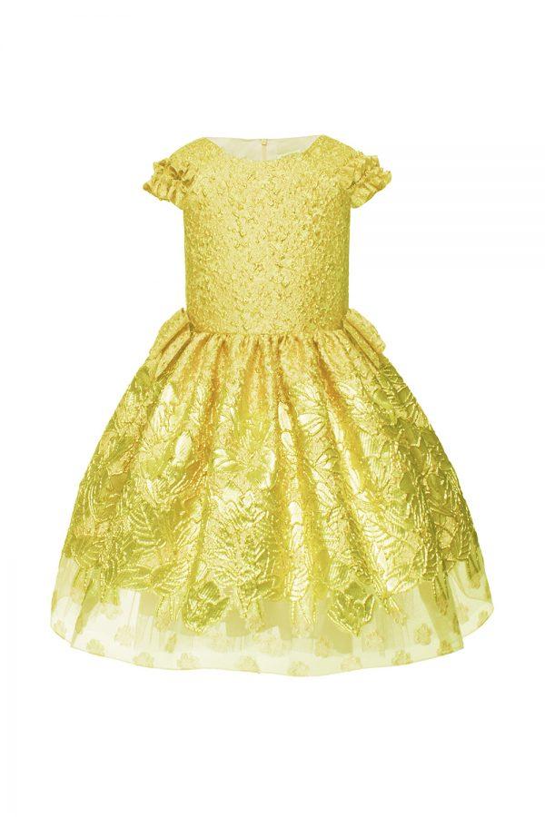 yellow tea party dress