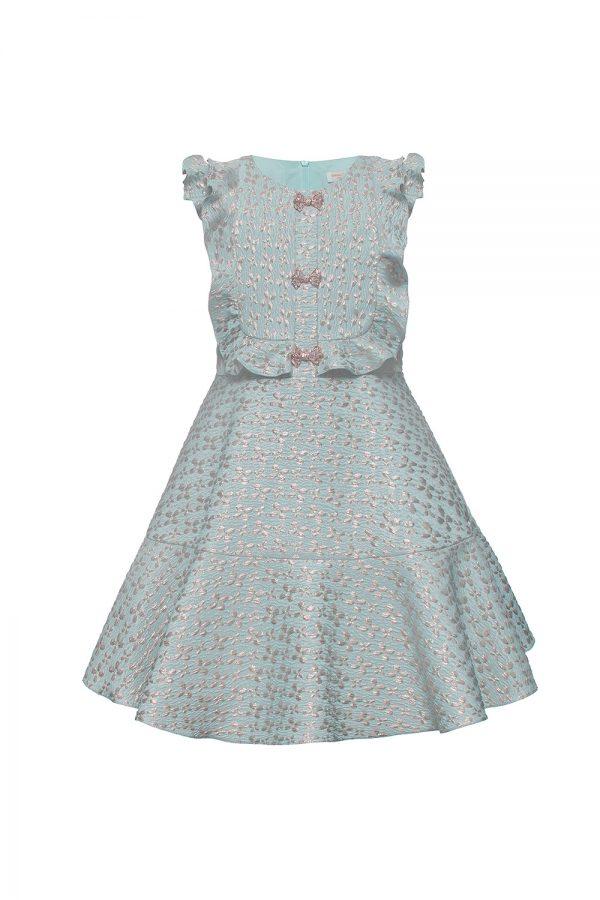 sky blue frill dress
