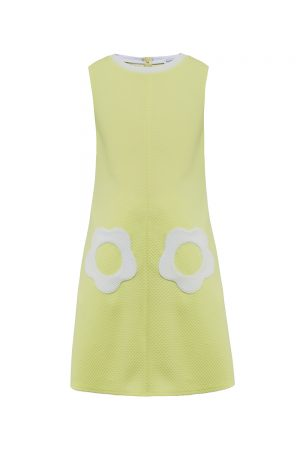 yellow flower power dress