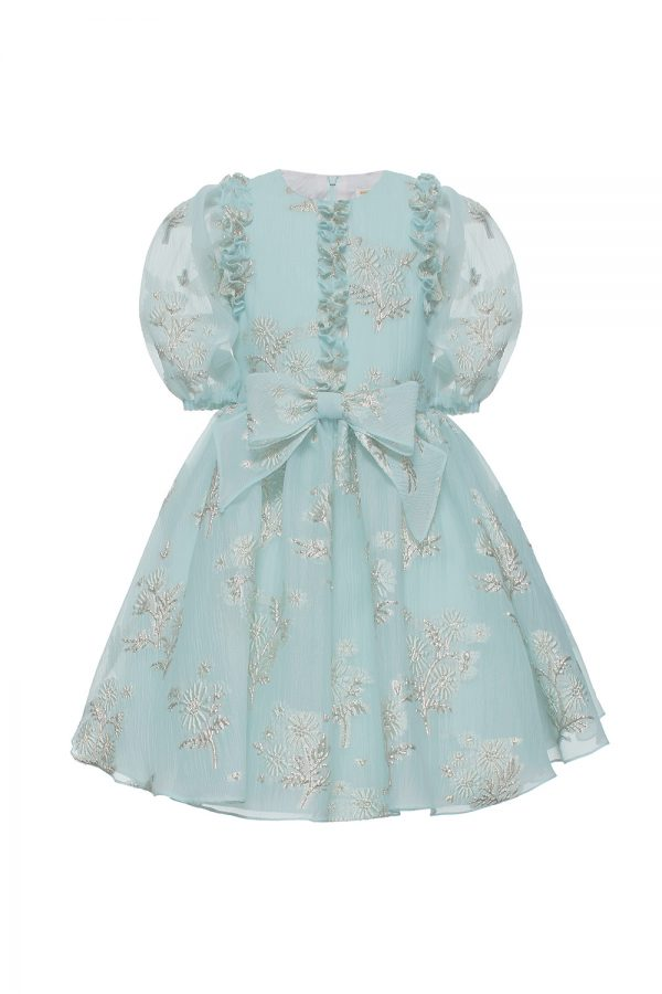 turquoise floral birthday gown