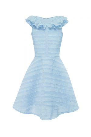 pastel blue prom dress