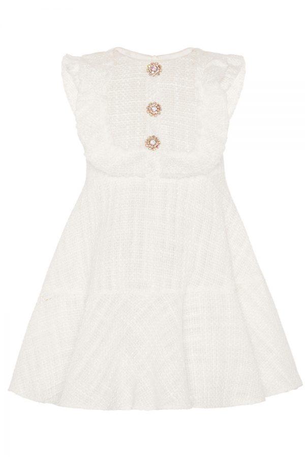 ivory tweed bridesmaid dress
