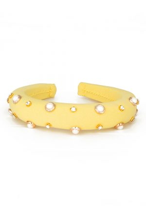canary yellow pearl hair band