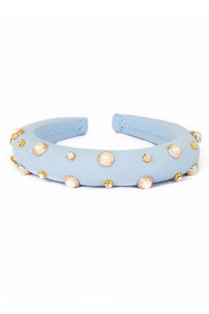 pastel blue pearl hair band