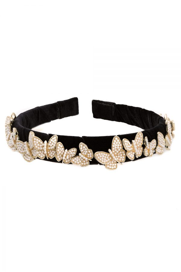 black butterfly hair band